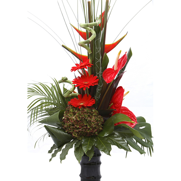 Exotic Tropical Vase Design
