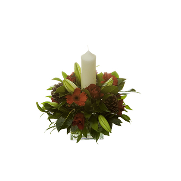 Christmas tank vase Christmas flower delivery Sheffield