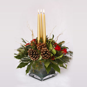 Christmas tank vase Christmas flower delivery Sheffield
