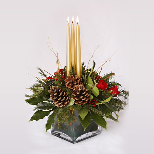Christmas tank vase