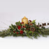 long and low table piece Christmas flower delivery Sheffield