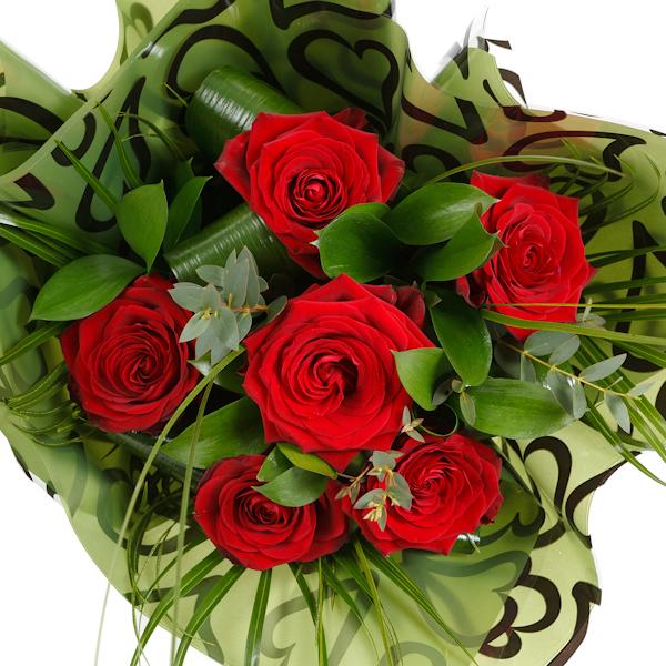 Half Dozen Best Quality Red Roses – Naomi
