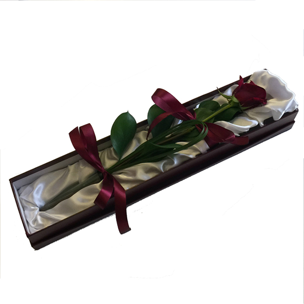 Valentines Red Rose in Gift Box