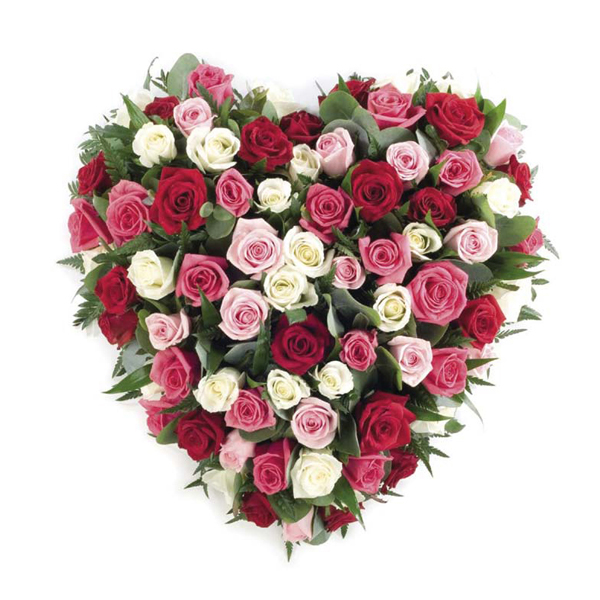Sheffield funeral flowers rose heart floral tribute