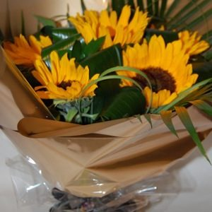 array of sunflowers florist Sheffield