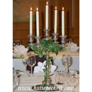candelabra table centrepiece wedding flowers Sheffield flower delivery