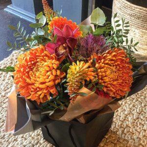 caramel and ginger bouquet florist Sheffield