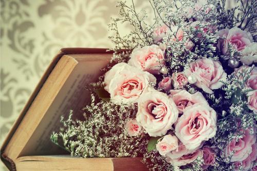 cascading bouquets wedding florist Sheffield