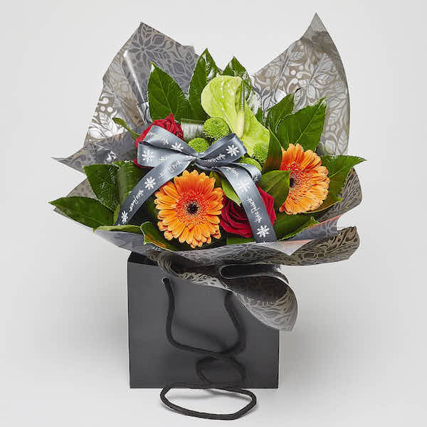 contemporary flower gift bag florist Sheffield