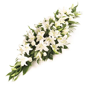 elegant casket spray Sheffield funeral flowers
