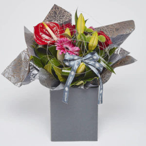 bouquet of exotic flowers from sheffield florist katie peckett