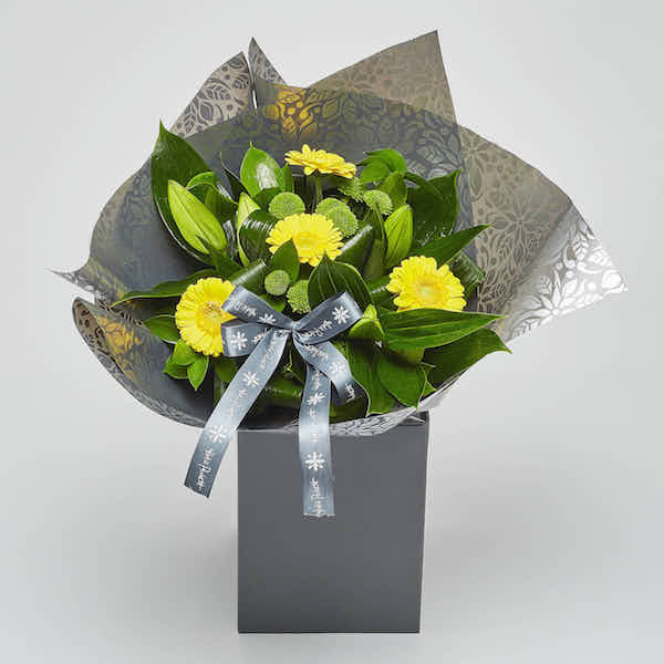 florists choice lily gerbera bouquet flowers Sheffield