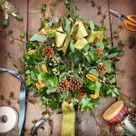 flower school Christmas Wreath