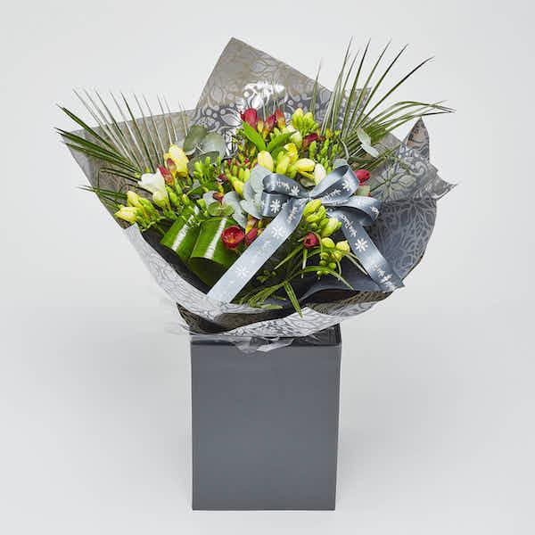 freesia bouquet from sheffiled florist katie peckett