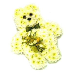 funeral flowers Sheffield teddy bear floral tribute
