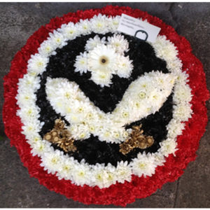 funeral flowers Sheffield United SUFC badge