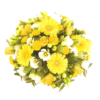 funeral flowers Sheffield yellow posy