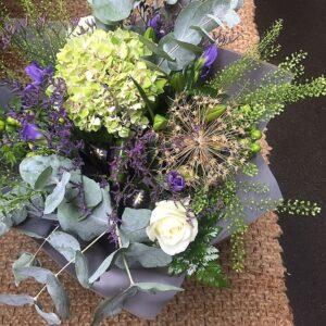 Katie Peckett's autumn harvest bouquet florist Sheffield