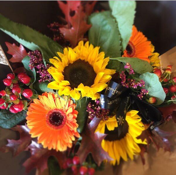 Katie Pecketts fall bouquet florist in Sheffield