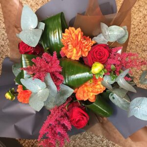 Katie Pecketts summer spice bouquet florist Sheffield