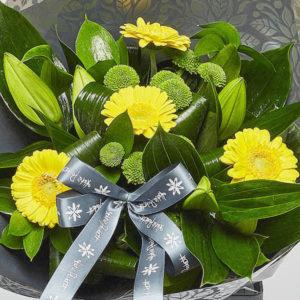 liliy and gerbera bouquet from sheffield florist