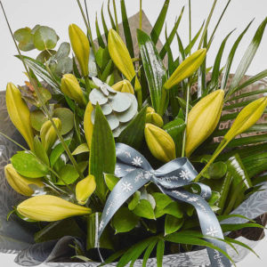 longi lilies bouquet from sheffield florist katie peckett