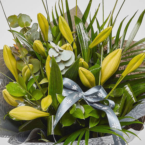 longi lilies bouquet from sheffield florist katie peckett