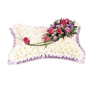 massed pillow Sheffield funeral flowers