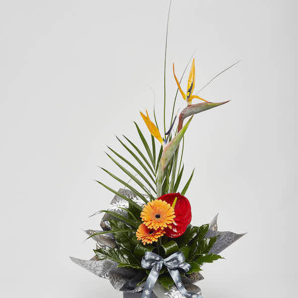 modern tropical bouquet flower delivery Sheffield