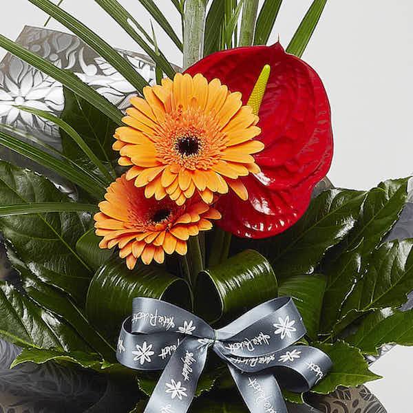 modern tropical bouquet flowers Sheffield