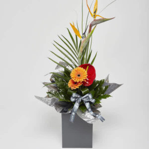 modern tropical bouquet by katie peckett sheffield