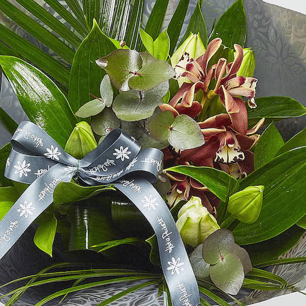 orchid lily bouquet flower shop Sheffield florist