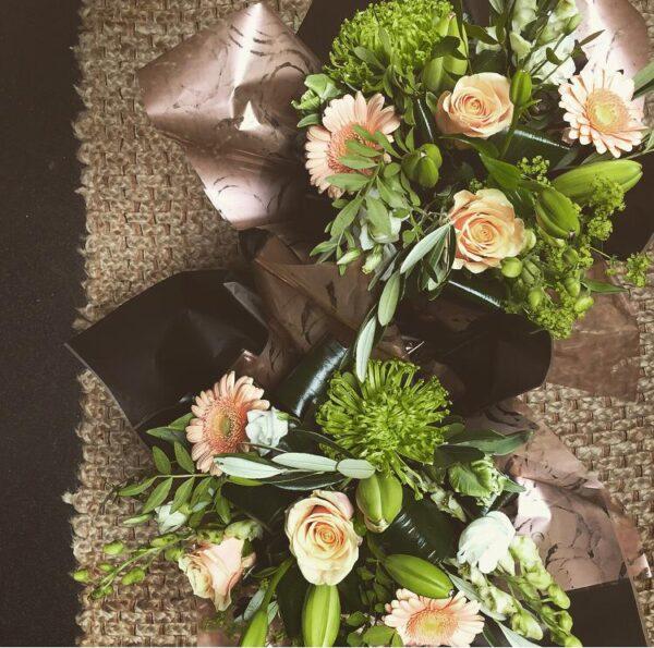 Peachy Keen bouquet Sheffield florist