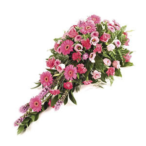 pink flower spray Sheffield funeral flowers