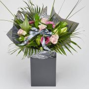 roses lilies and gerbera bouquet of flowers
