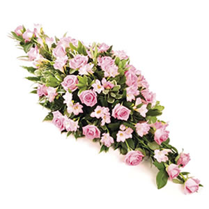 pretty casket spray funeral flowers Sheffield