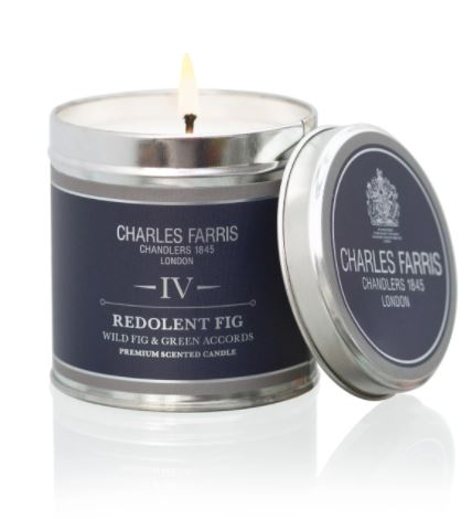 Charles Farris redolent fig candle tin