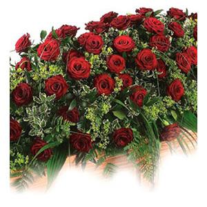 rose casket spray Sheffield funeral flowers