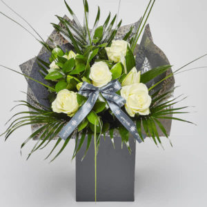 rose lily bouquet sheffield florist