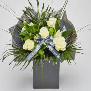 rose lily bouquet sheffield florist