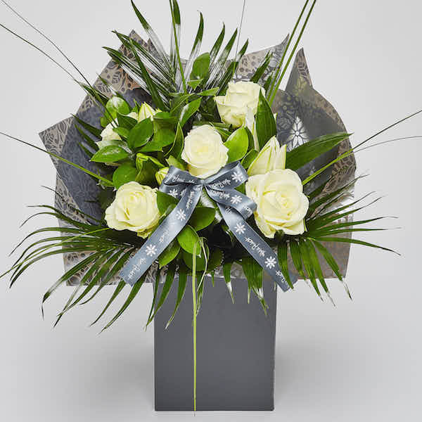 roses and lilies bouquet flowers Sheffield