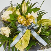 roses lilies orchid anthurium luxury flower bouquet