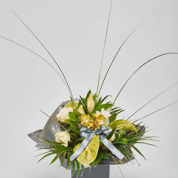 roses lilies orchid anthurium luxury flower bouquet