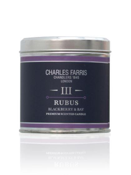 Charles Farris Rubus Candle TIn