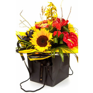 Showtime flower bag Sheffield flower delivery
