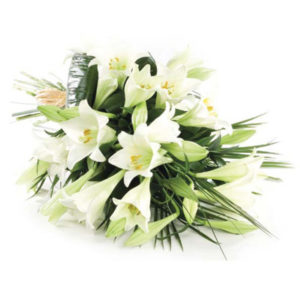 simplicity tied bouquet Sheffield funeral flowers