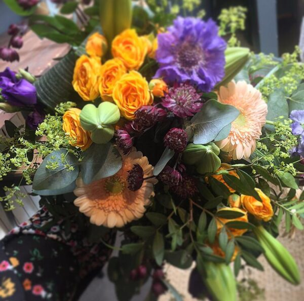 summer nights jewel bouquet Sheffield flowers online