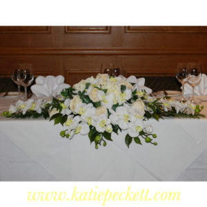 top table arrangement wedding flowers Sheffield flower delivery