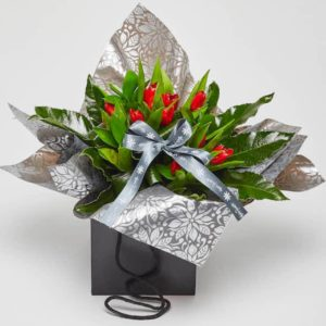 tulip bag bouquet online flowers Sheffield