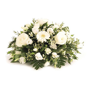 white dream floral tribute Sheffield funeral flowers